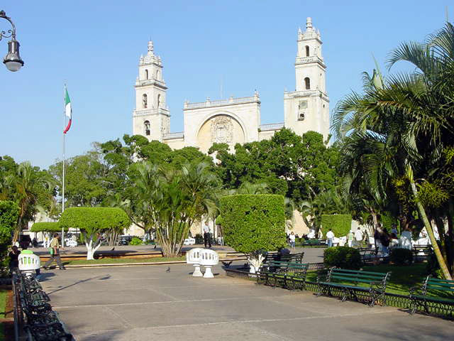 Merida historic center cathedral