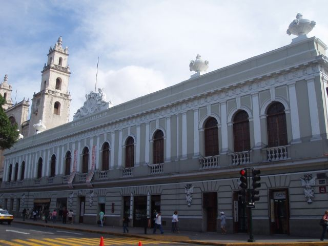 Merida antique building historic center